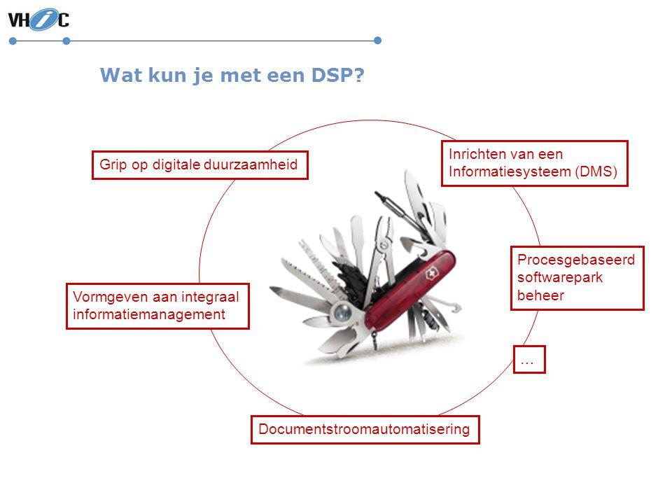 Wat kun je met een DSP Inrichten van een