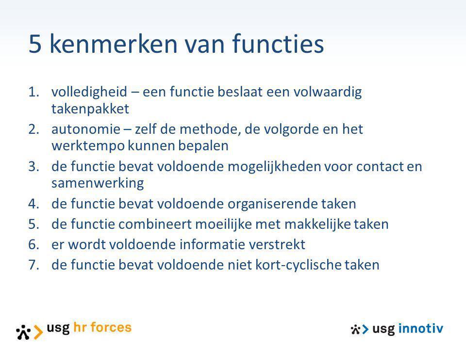 5 kenmerken van functies