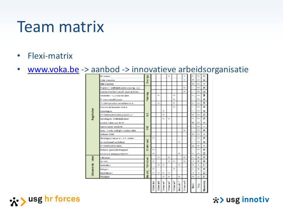 Team matrix Flexi-matrix