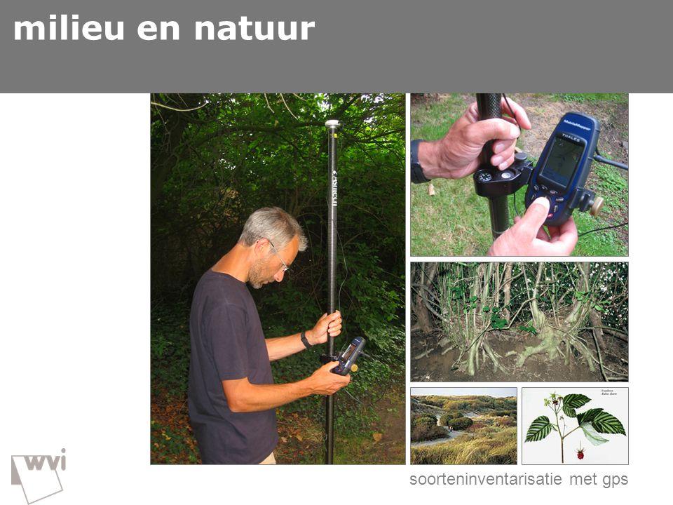 GIS in de wvi milieu en natuur  milieu en natuur
