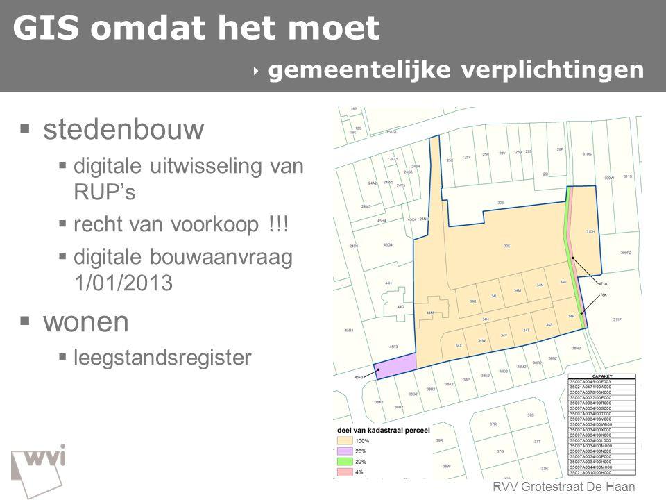 GIS omdat het moet stedenbouw wonen  gemeentelijke verplichtingen