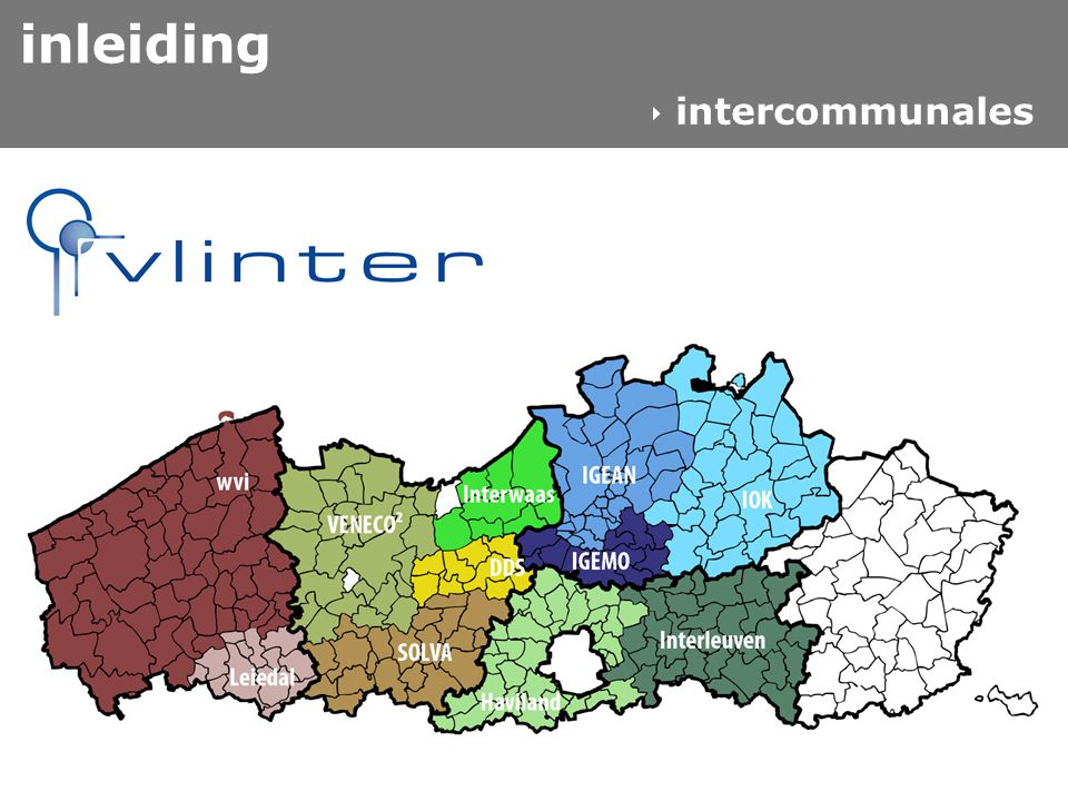 inleiding  intercommunales