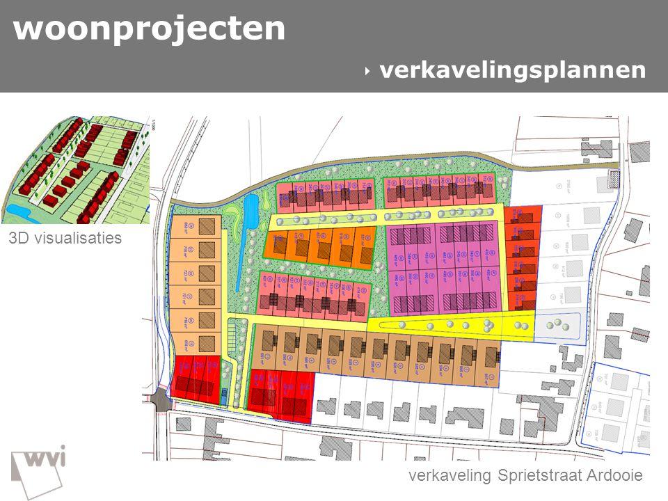 Input Gitte GIS in de wvi woonprojecten  verkavelingsplannen