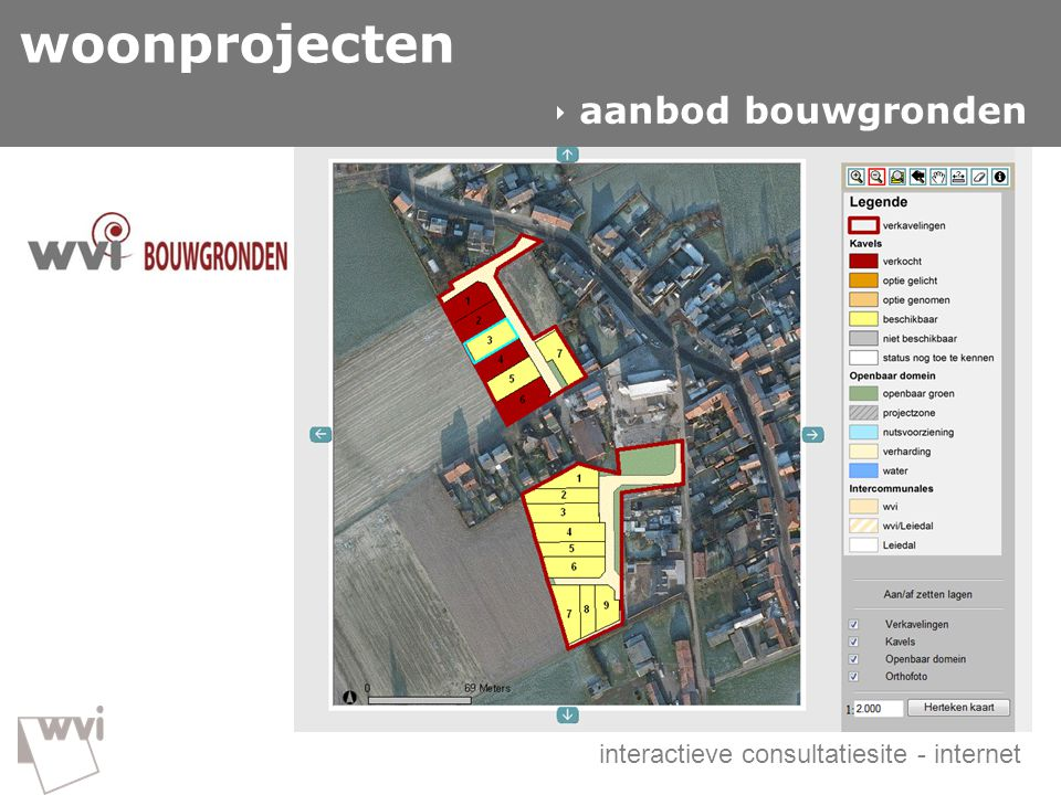 woonprojecten GIS in de wvi  aanbod bouwgronden  woonprojecten