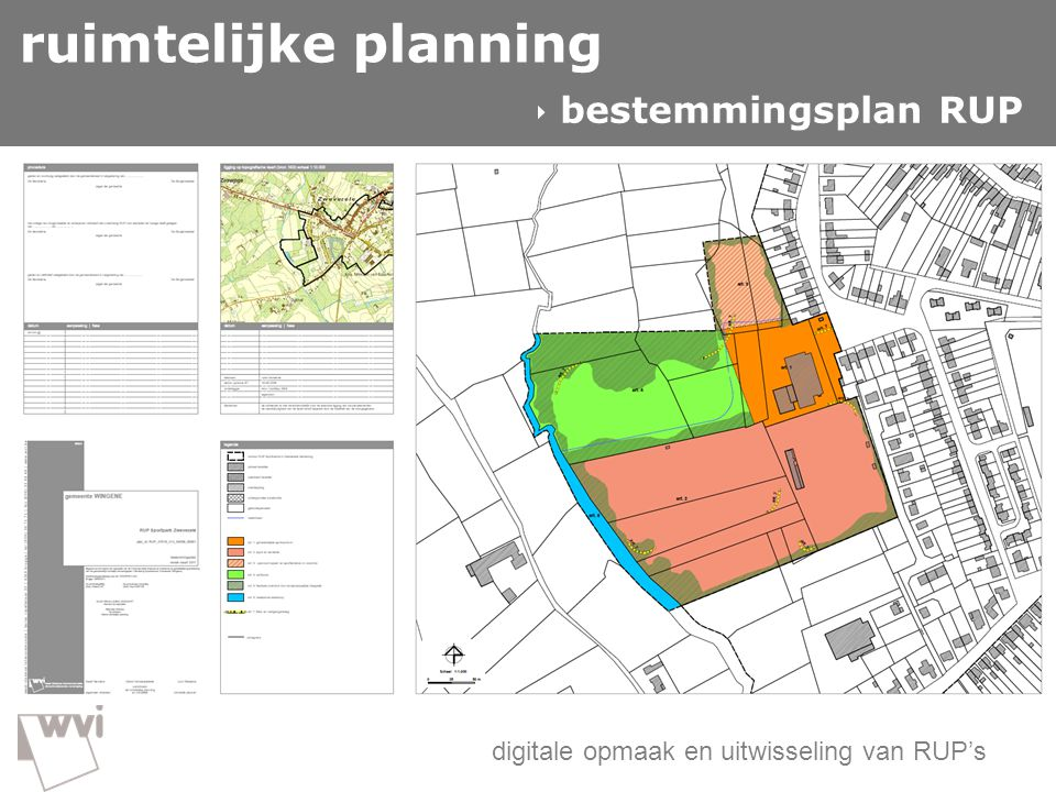 ruimtelijke planning GIS in de wvi  bestemmingsplan RUP
