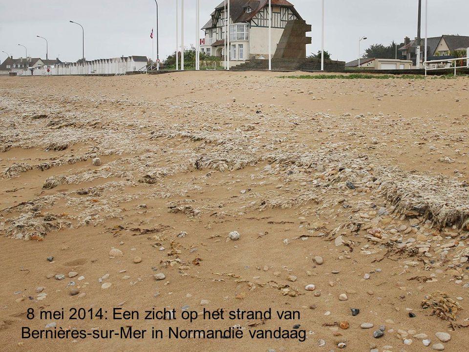 8 mei 2014: Een zicht op het strand van