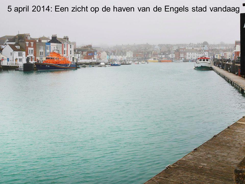 5 april 2014: Een zicht op de haven van de Engels stad vandaag