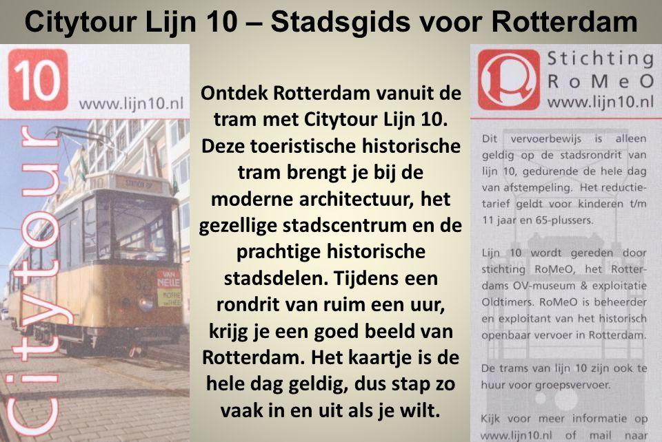 Citytour Lijn 10 – Stadsgids voor Rotterdam