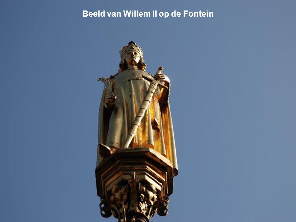 Beeld van Willem II op de Fontein