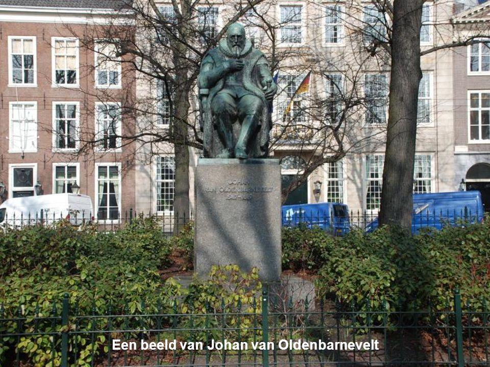 Een beeld van Johan van Oldenbarnevelt