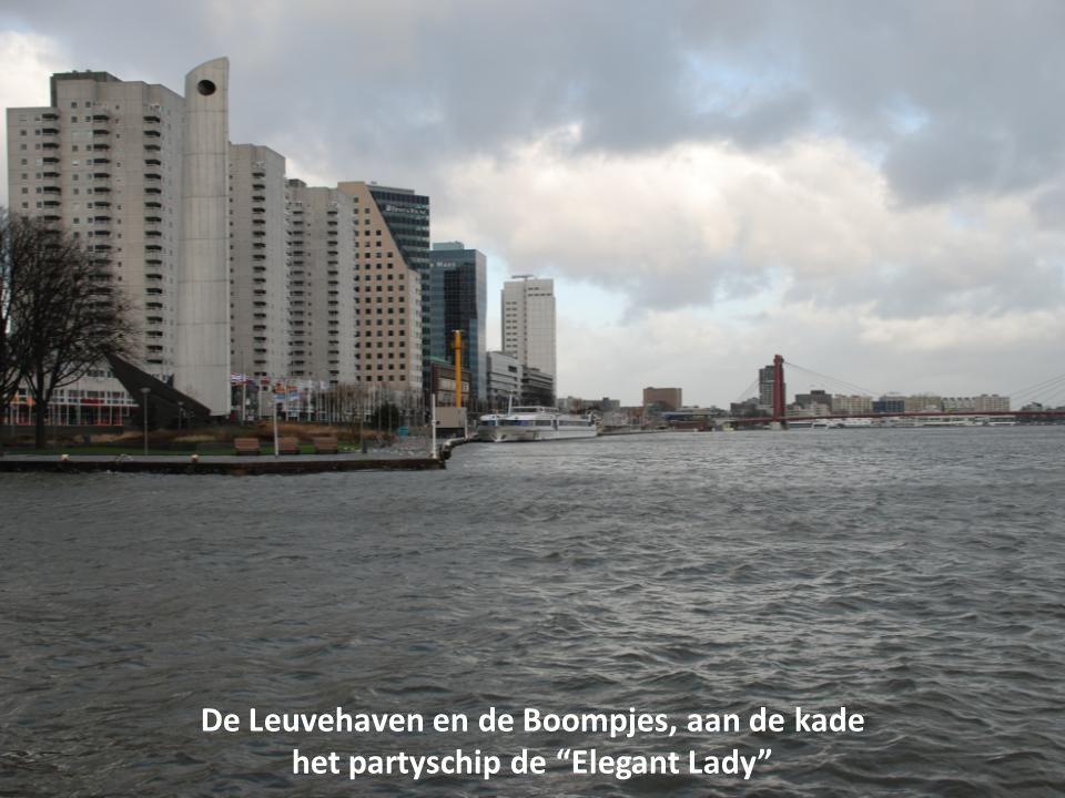 De Leuvehaven en de Boompjes, aan de kade