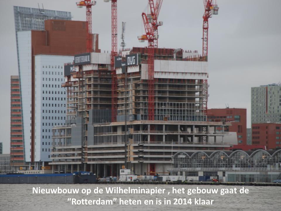 Nieuwbouw op de Wilhelminapier , het gebouw gaat de