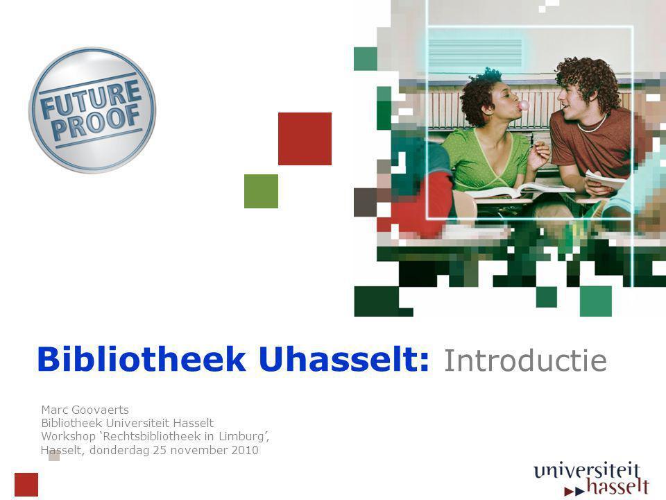 Bibliotheek Uhasselt: Introductie