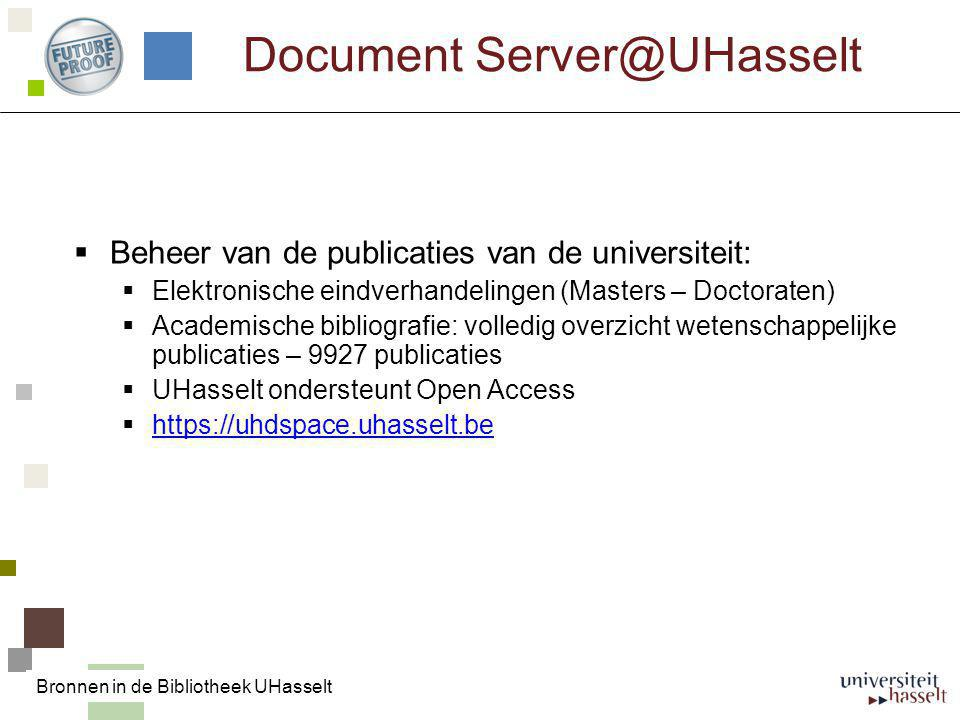 Document Server@UHasselt