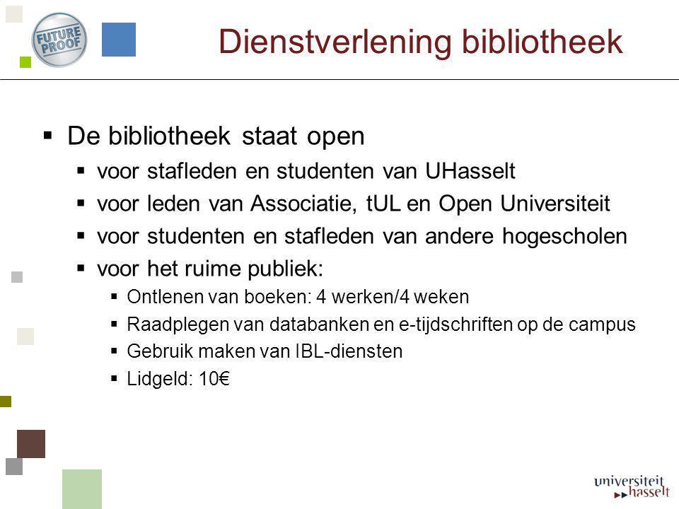 Dienstverlening bibliotheek