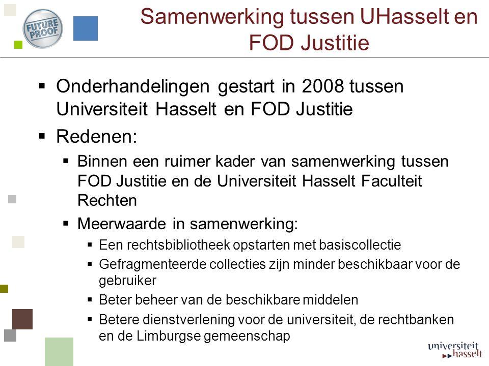Samenwerking tussen UHasselt en FOD Justitie