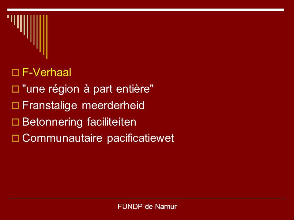 une région à part entière Franstalige meerderheid