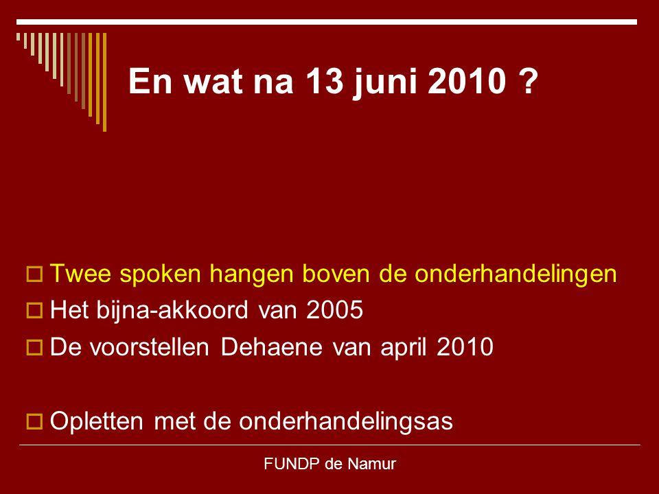 En wat na 13 juni 2010 Twee spoken hangen boven de onderhandelingen