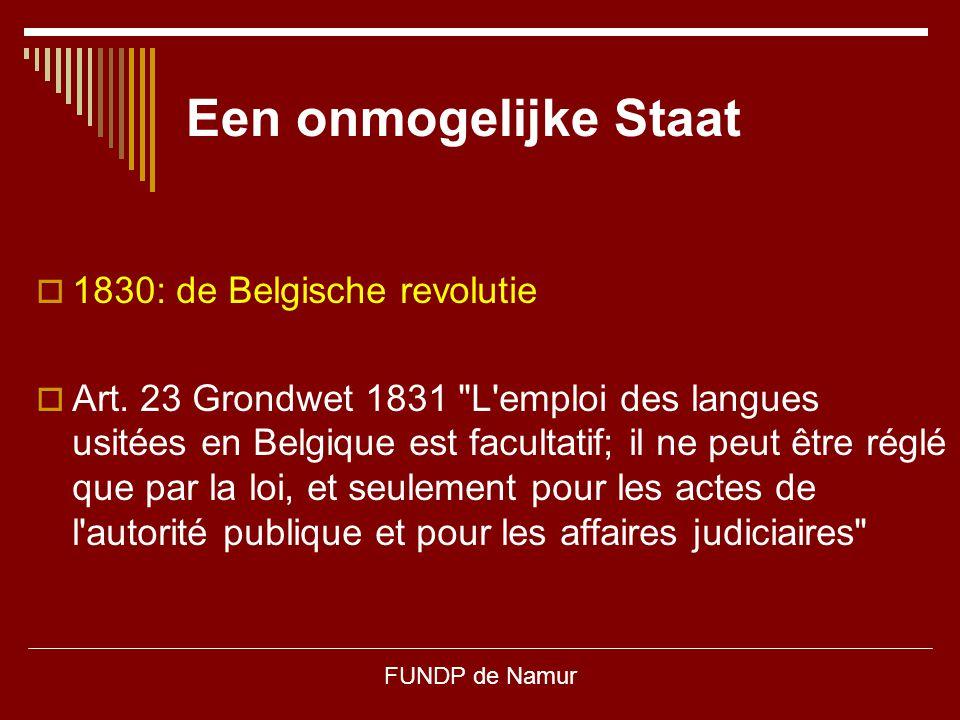 Een onmogelijke Staat 1830: de Belgische revolutie