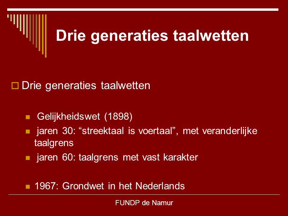 Drie generaties taalwetten