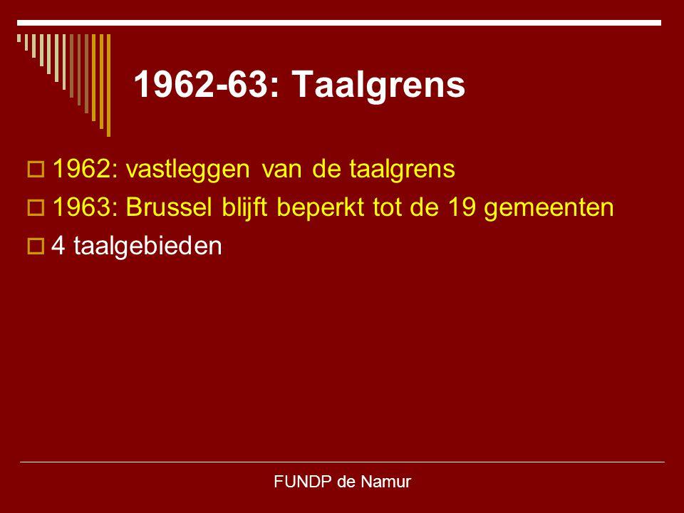 1962-63: Taalgrens 1962: vastleggen van de taalgrens