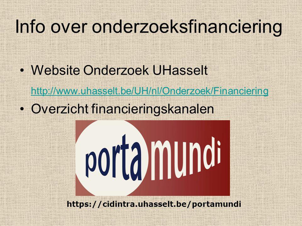 Info over onderzoeksfinanciering
