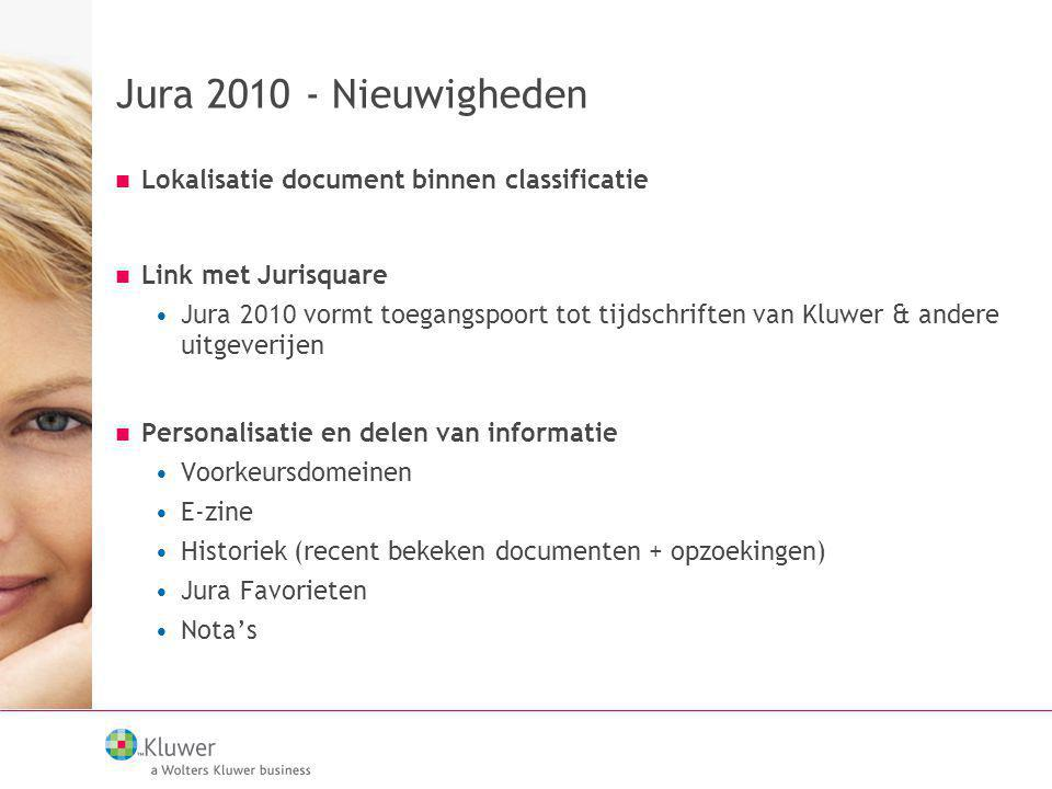 Jura 2010 - Nieuwigheden Lokalisatie document binnen classificatie