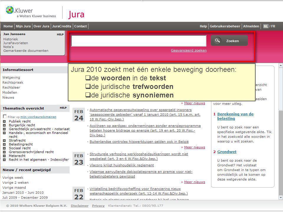 Jura 2010 zoekt met één enkele beweging doorheen: