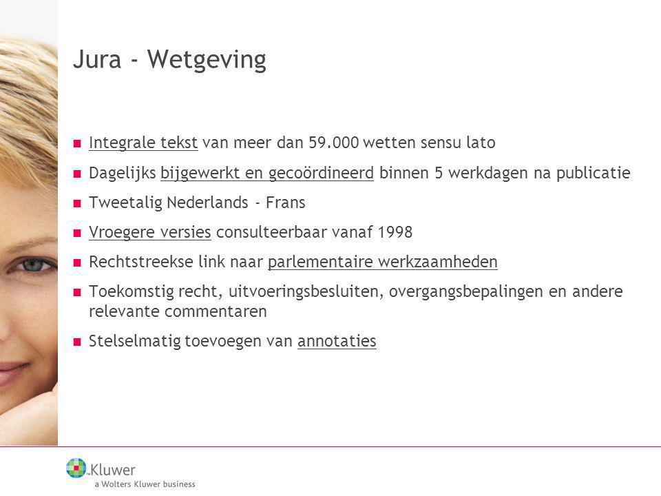 Jura - Wetgeving Integrale tekst van meer dan 59.000 wetten sensu lato