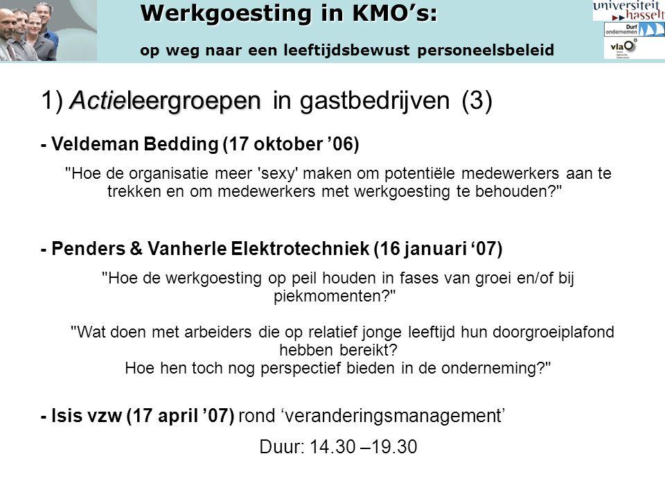 1) Actieleergroepen in gastbedrijven (3) - Veldeman Bedding (17 oktober '06)