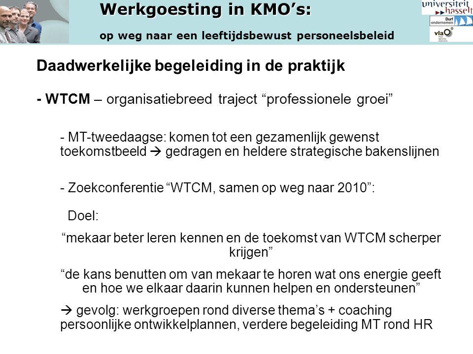 mekaar beter leren kennen en de toekomst van WTCM scherper krijgen