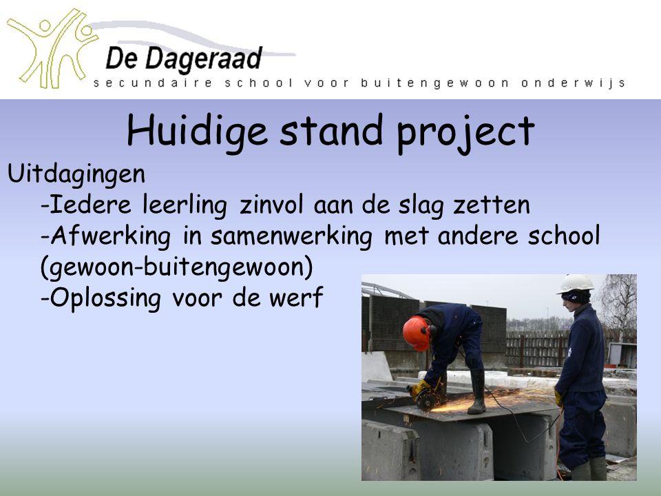 Huidige stand project Uitdagingen