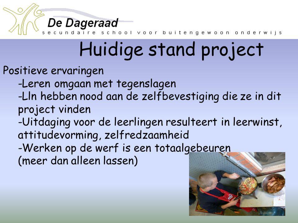 Huidige stand project Positieve ervaringen