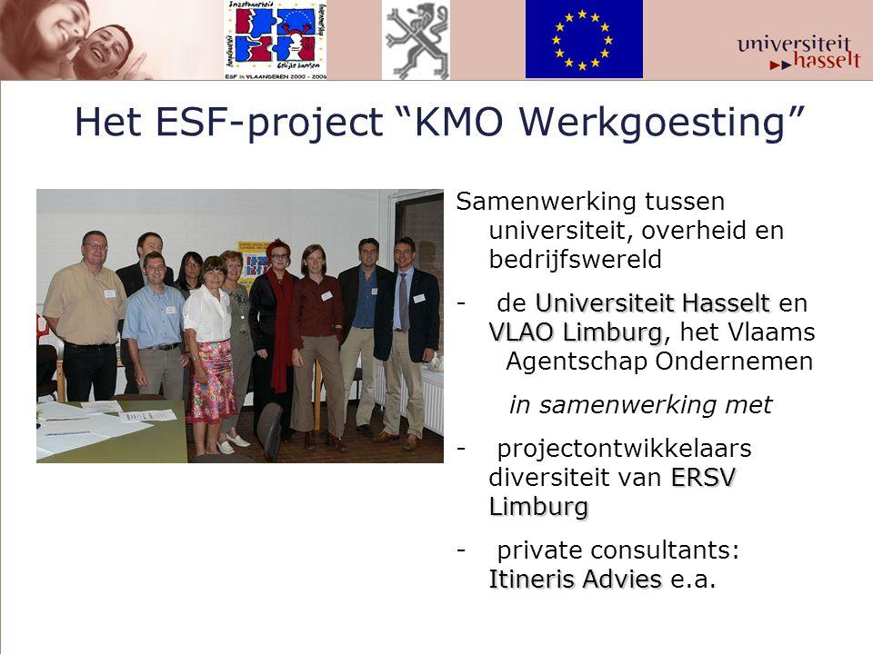 Het ESF-project KMO Werkgoesting
