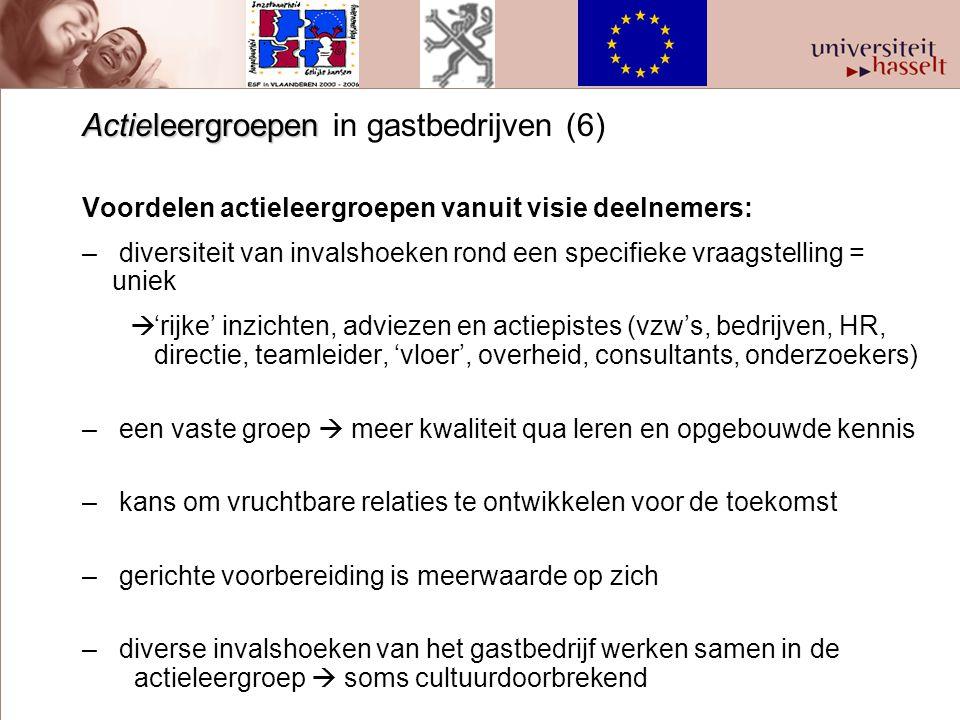 Actieleergroepen in gastbedrijven (6)