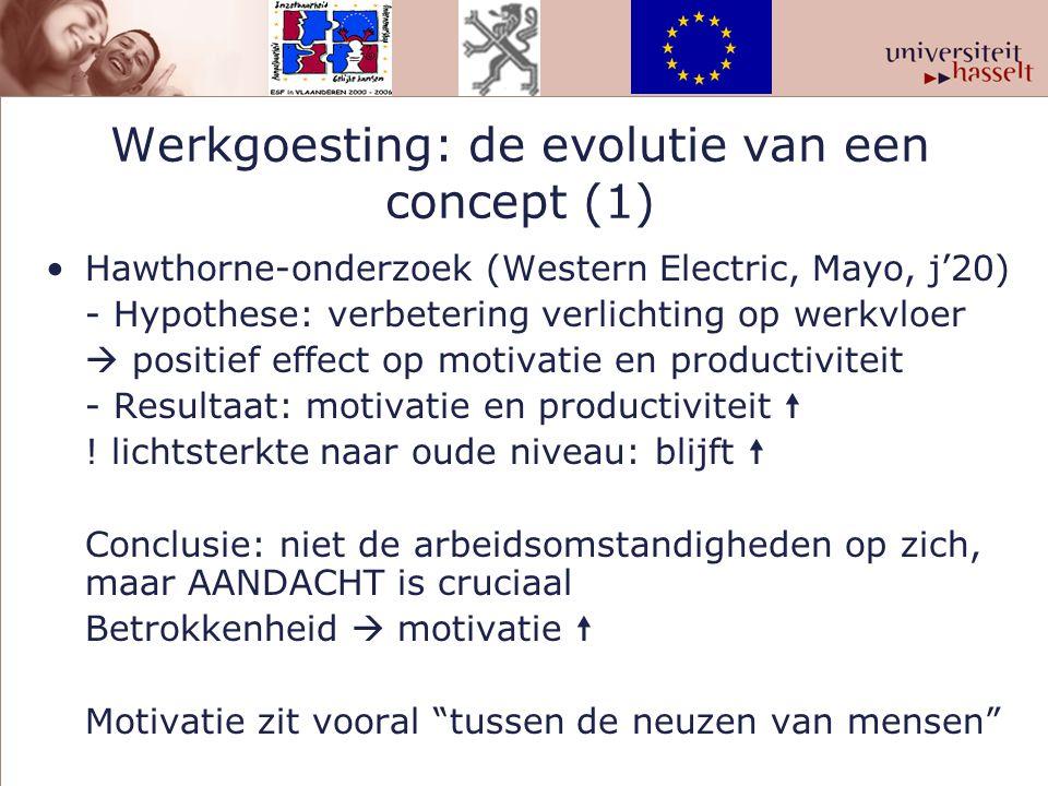 Werkgoesting: de evolutie van een concept (1)