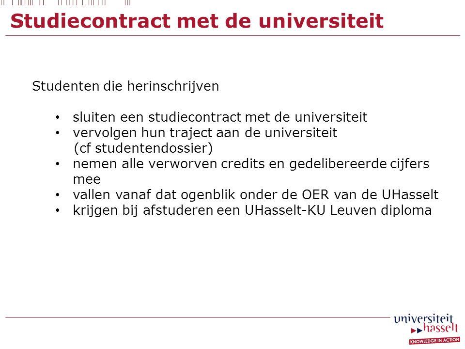 Studiecontract met de universiteit