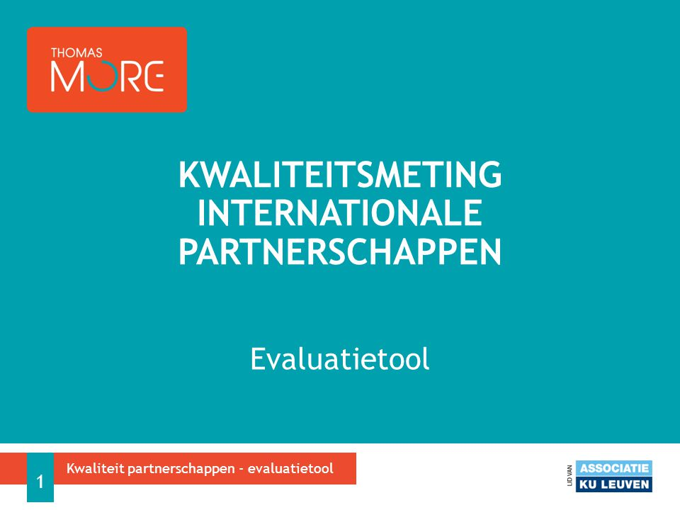 Kwaliteitsmeting internationale partnerschappen