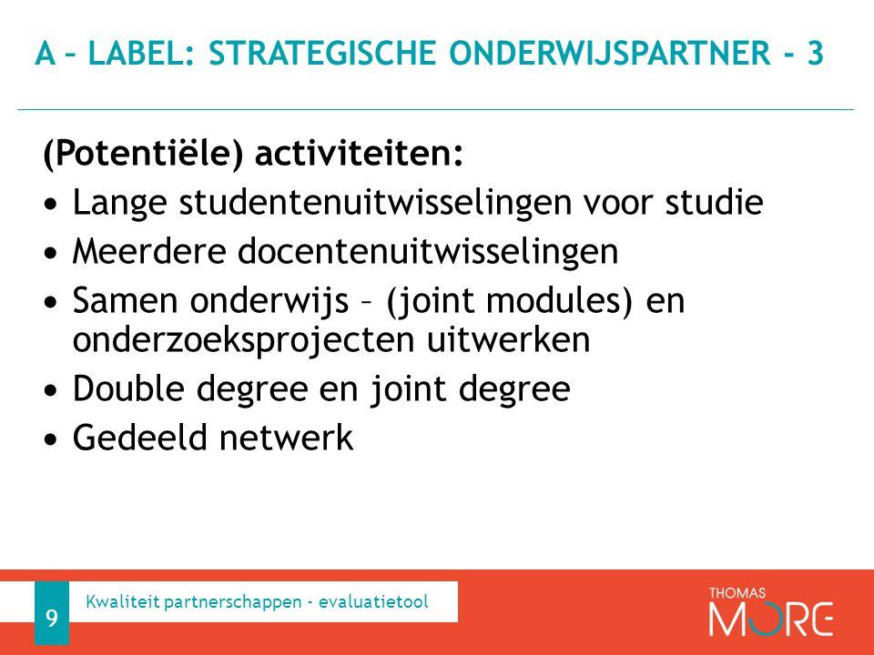 A – label: strategische onderwijspartner - 3
