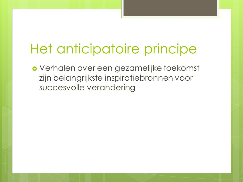 Het anticipatoire principe