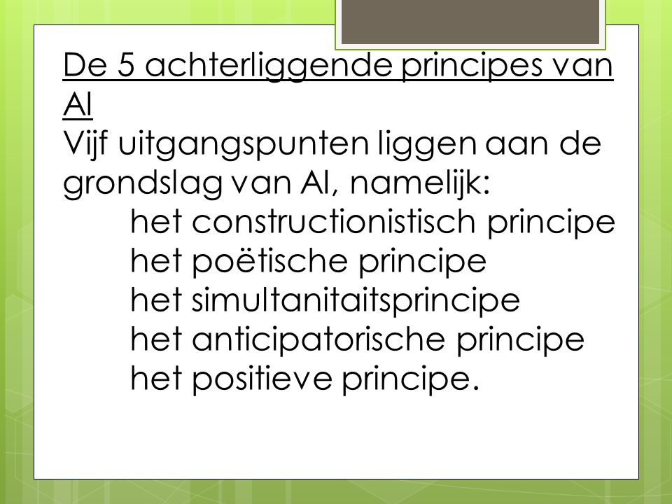 De 5 achterliggende principes van AI