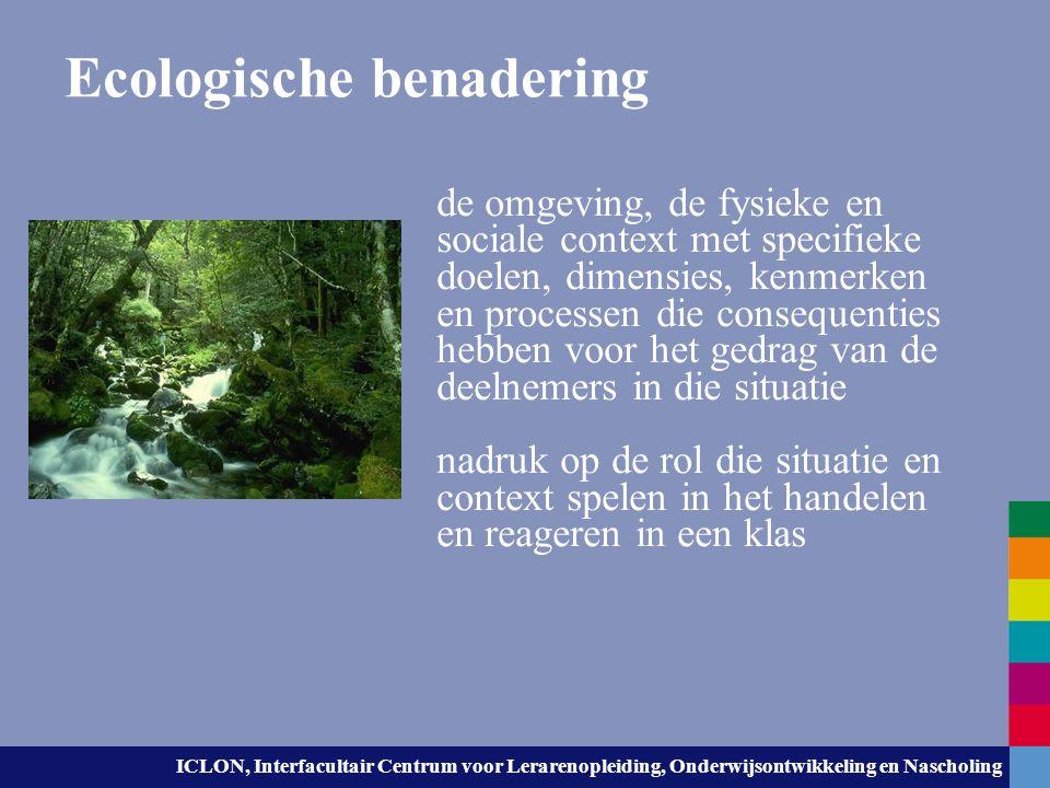 Ecologische benadering
