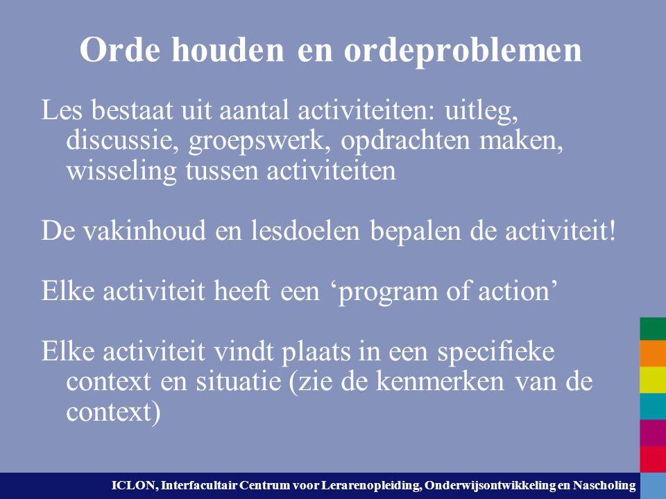 Orde houden en ordeproblemen