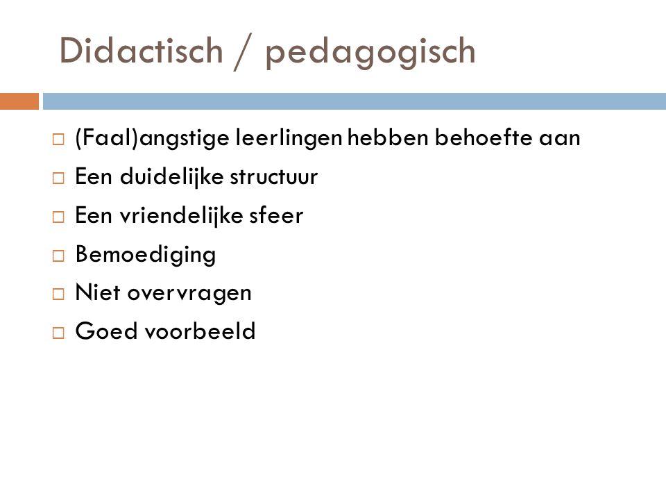 Didactisch / pedagogisch