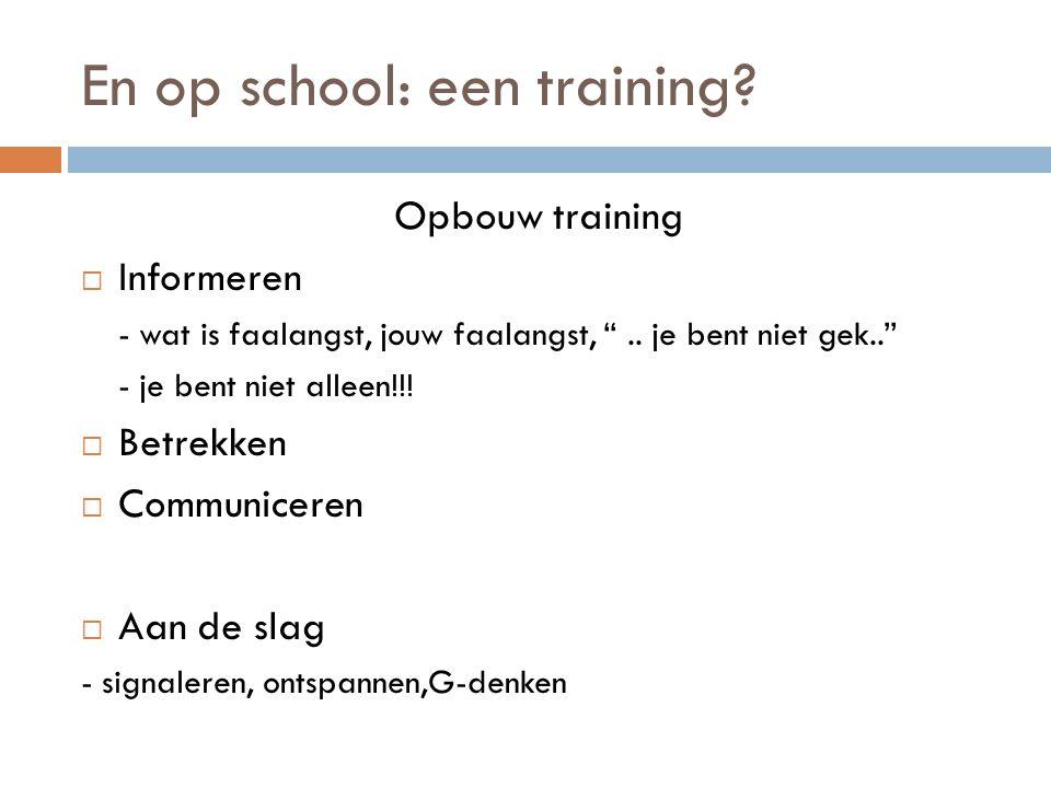 En op school: een training