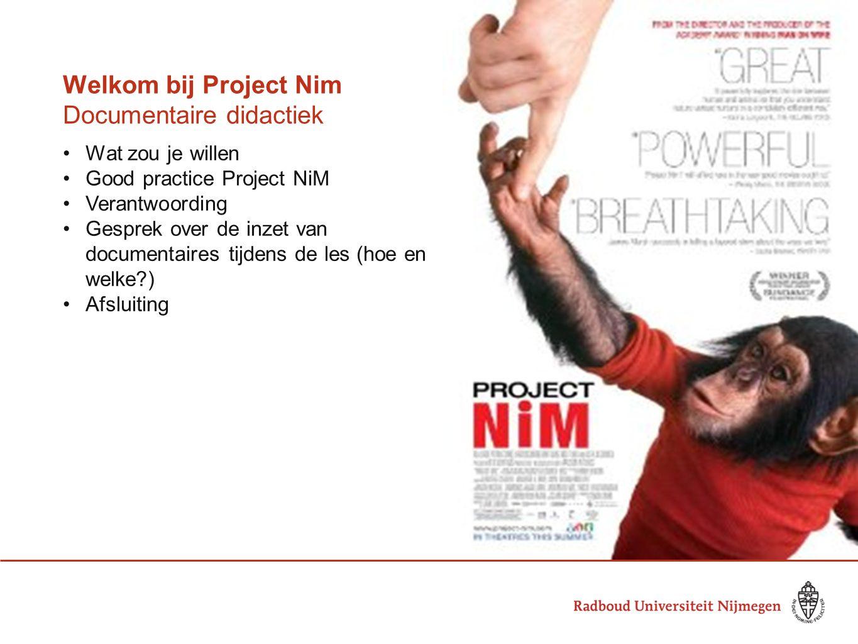 Welkom bij Project Nim Documentaire didactiek