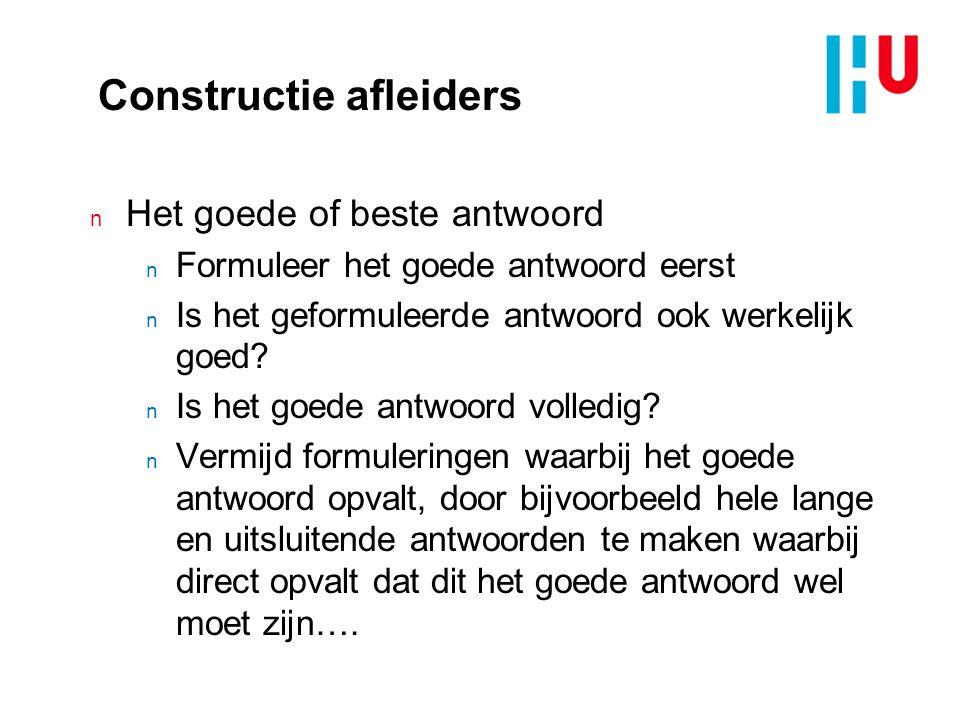 Constructie afleiders