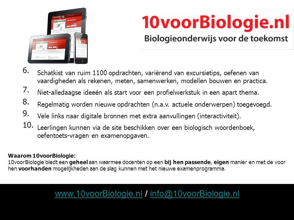 www.10voorBiologie.nl / info@10voorBiologie.nl