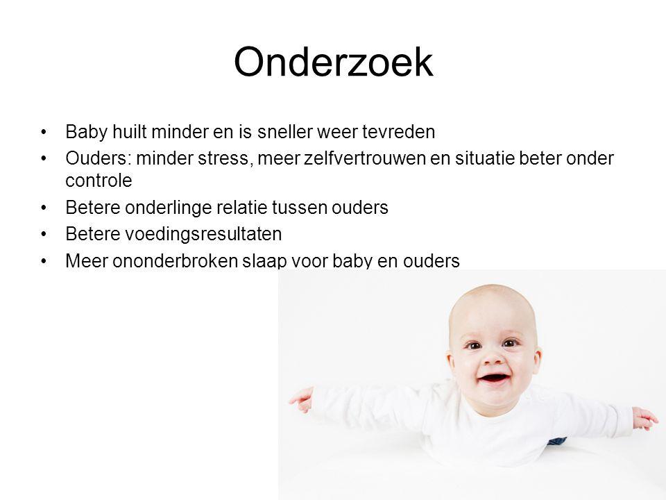 Onderzoek Baby huilt minder en is sneller weer tevreden