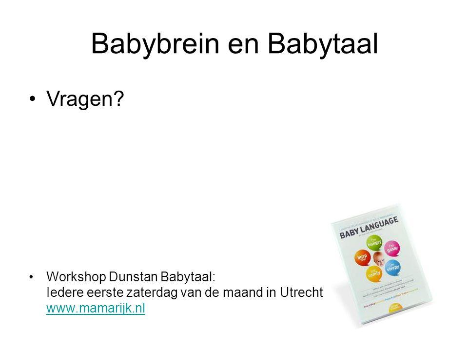 Babybrein en Babytaal Vragen